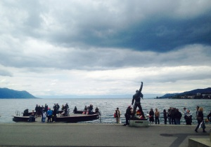 Statua di Freddie Mercury sul lungomare - settembre 2015